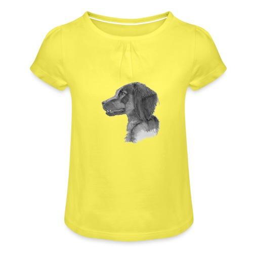 fieldTrialSpaniel - Pige T-shirt med flæser