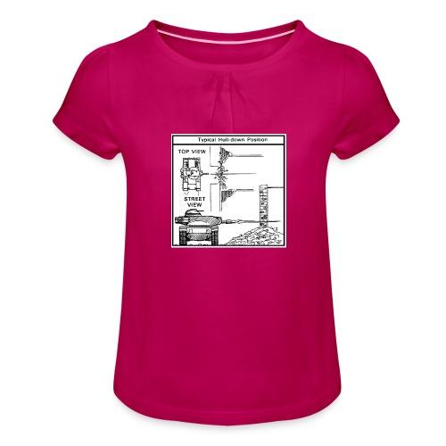 W.O.T War tactic, tank shot - Girl's T-Shirt with Ruffles