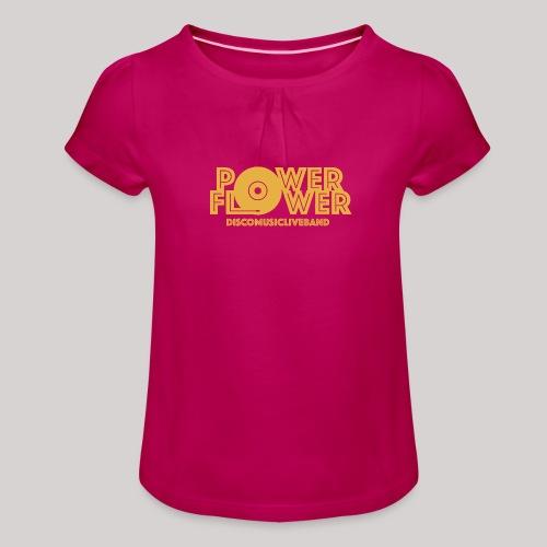 logo def PF 1colore giallo - Maglietta da ragazza con arricciatura
