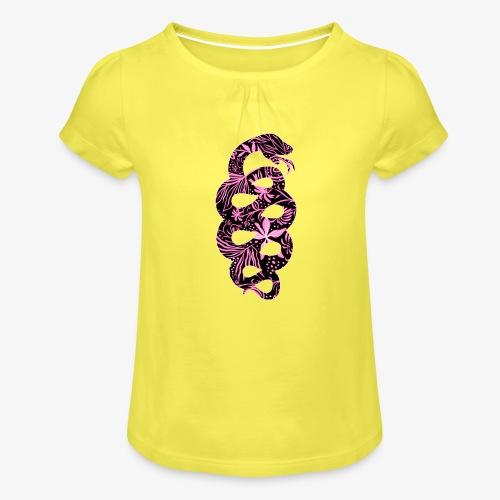 Flower Snake IV - Tyttöjen t-paita, jossa rypytyksiä