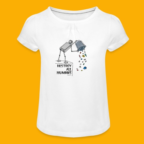 Dat Robot: Destruction By Pollution light - Meisjes-T-shirt met plooien