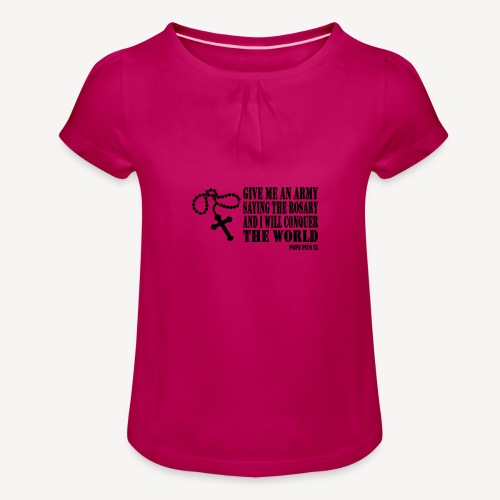 ROSARY - Girl's T-Shirt with Ruffles