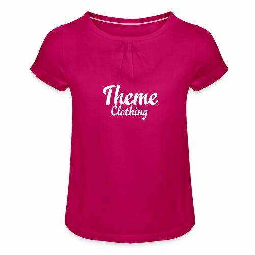 Theme Clothing Logo - Girl's T-Shirt with Ruffles