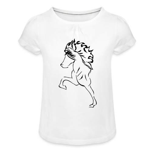 islaender - Girl's T-Shirt with Ruffles