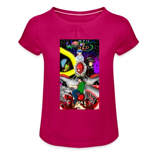World Of Worlds Dream of Beginning - Camiseta para niña con drapeado