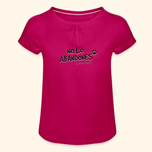 noloabandones negro - Camiseta para niña con drapeado