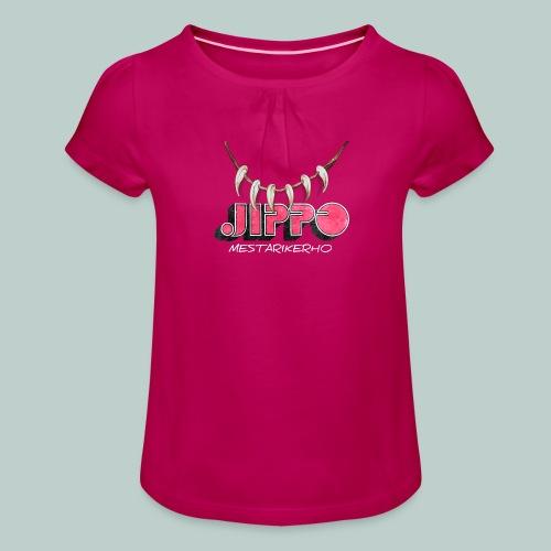 jippomestari_pink - Tyttöjen t-paita, jossa rypytyksiä