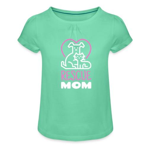 Rescue Mom - Tyttöjen t-paita, jossa rypytyksiä