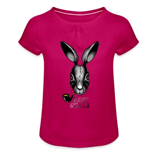 Witch Hare - Girl's T-Shirt with Ruffles