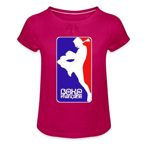 boxe française - Girl's T-Shirt with Ruffles
