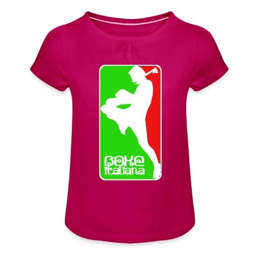 boxe italiana - Girl's T-Shirt with Ruffles