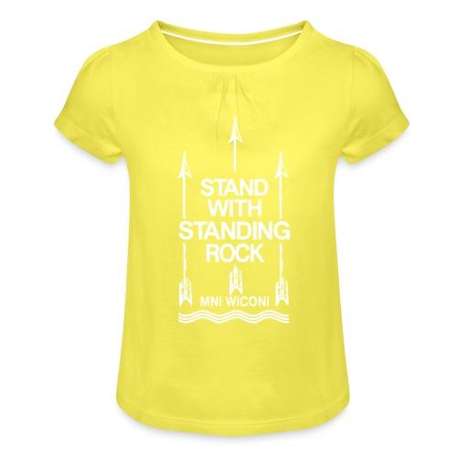Stand - Pige T-shirt med flæser