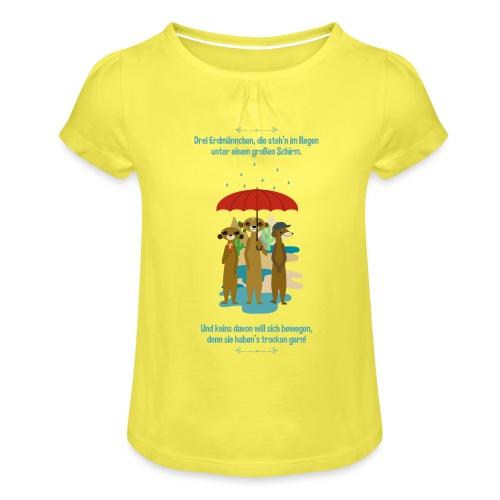 Erdmännchen - Mädchen-T-Shirt mit Raffungen