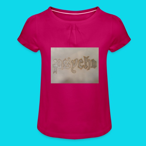 Simon Psycho Artist - Meisjes-T-shirt met plooien