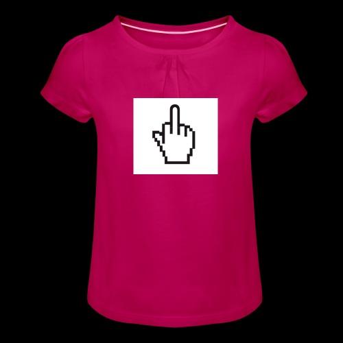 IMG 0451 JPG - Meisjes-T-shirt met plooien