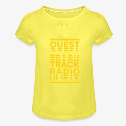 Logo Vertical Grand Jaune - T-shirt à fronces au col Fille