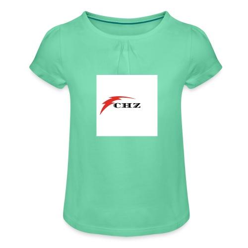 CHZ LAZER - Maglietta da ragazza con arricciatura