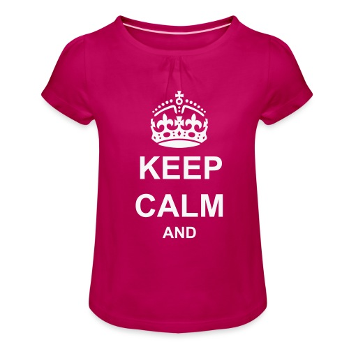 Keep Calm And Your Text Best Price - Girl's T-Shirt with Ruffles