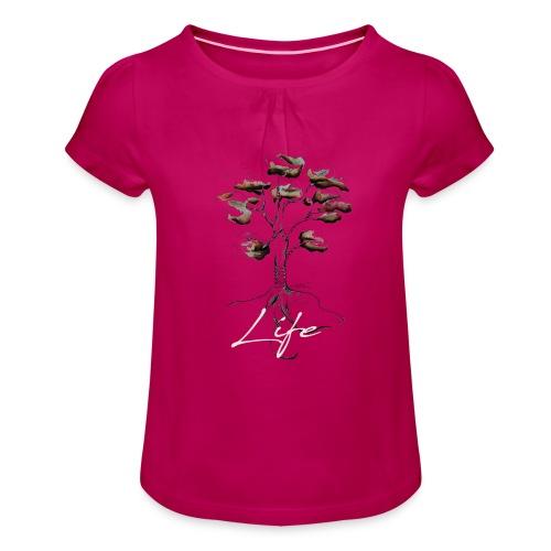 Notre mère Nature - T-shirt à fronces au col Fille