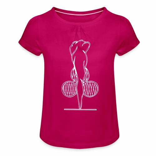Riihimäen Erätytöt ry logo - Tyttöjen t-paita, jossa rypytyksiä