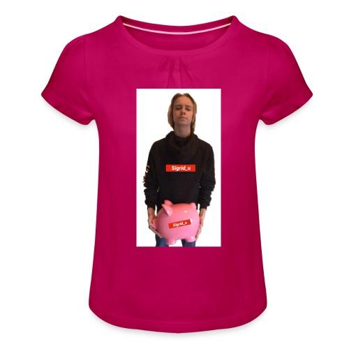Sigrid_uPhotoTee - Jente-T-skjorte med frynser