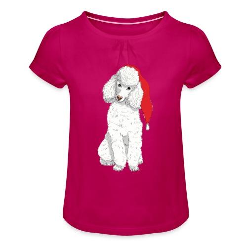 Poodle toy W - christmas - Pige T-shirt med flæser