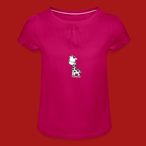 CuteBaby Giraf - Pige T-shirt med flæser