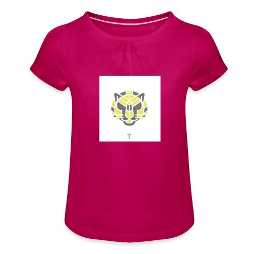 Tiger fra jungle - Pige T-shirt med flæser