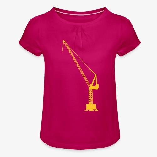 kraan - Meisjes-T-shirt met plooien