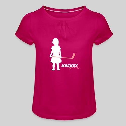 Hockey Girl I - Mädchen-T-Shirt mit Raffungen