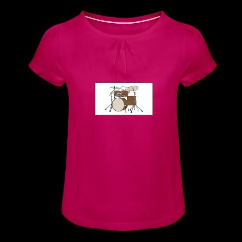 bongo cattttttttttt - Girl's T-Shirt with Ruffles