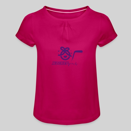 Hockey Girl II - Mädchen-T-Shirt mit Raffungen