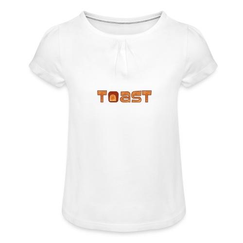Toast Muismat - Meisjes-T-shirt met plooien