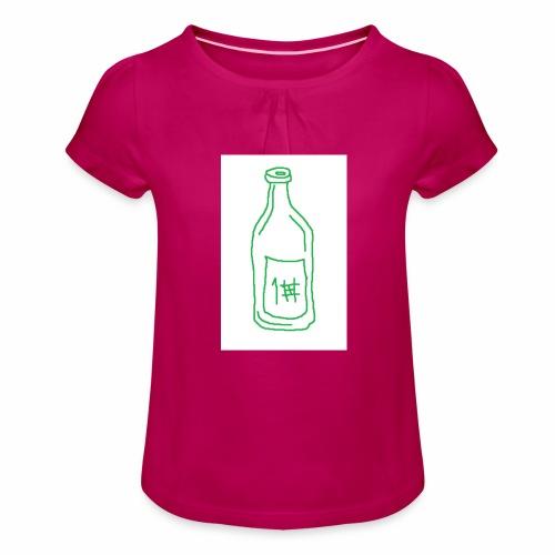 Alkoholi - Tyttöjen t-paita, jossa rypytyksiä
