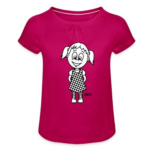 do-re-mi - Meisjes-T-shirt met plooien