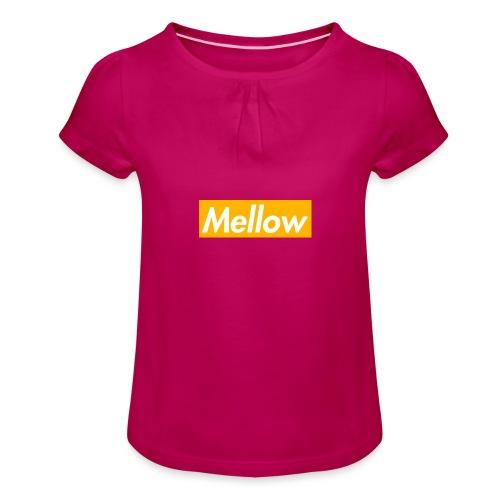 Mellow Orange - Girl's T-Shirt with Ruffles