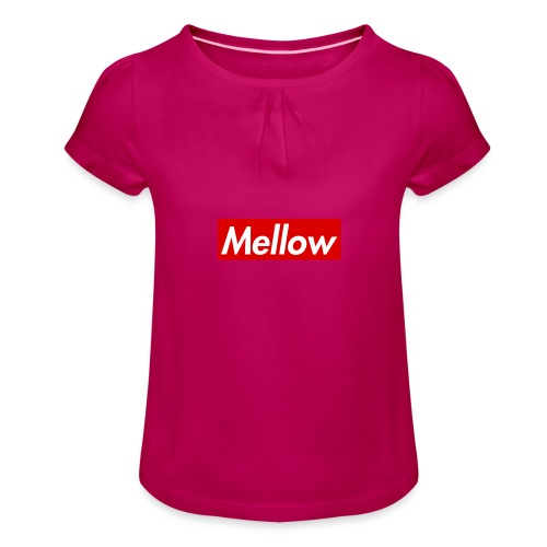 Mellow Red - Girl's T-Shirt with Ruffles