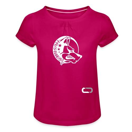 CORED Emblem - Girl's T-Shirt with Ruffles