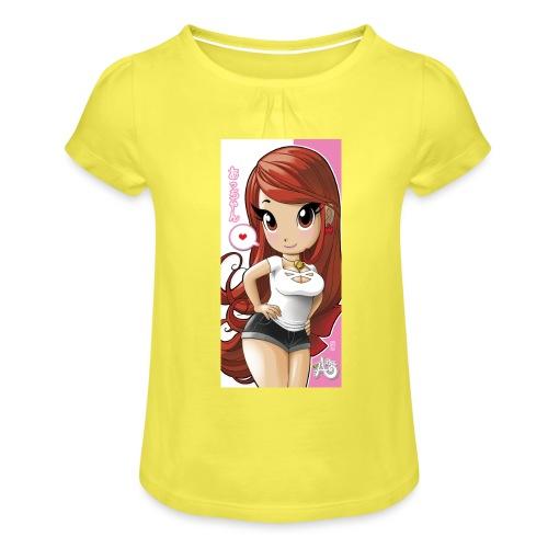 Acchan iphone6cover2 gif - Maglietta da ragazza con arricciatura