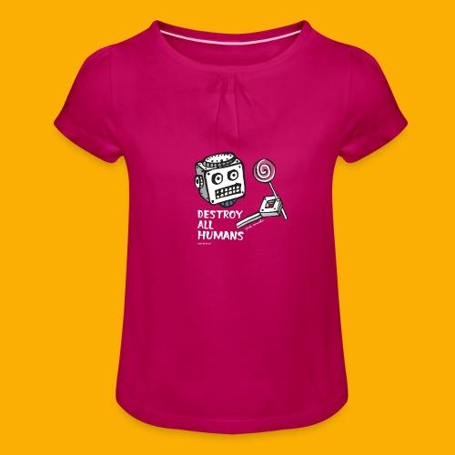 Dat Robot: Destroy Series Candy Dark - Meisjes-T-shirt met plooien
