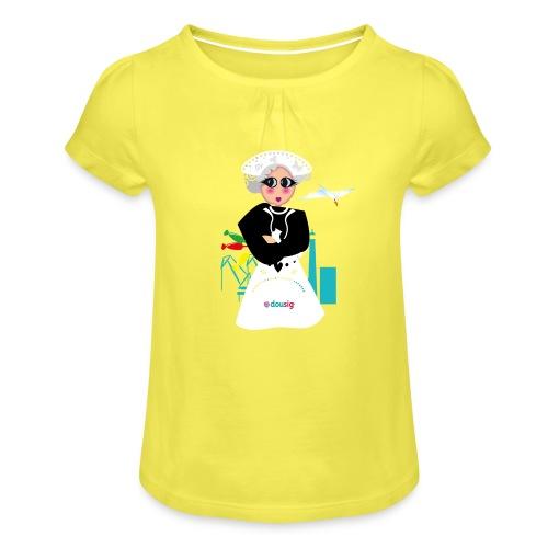 la grand mere Dousig - T-shirt à fronces au col Fille