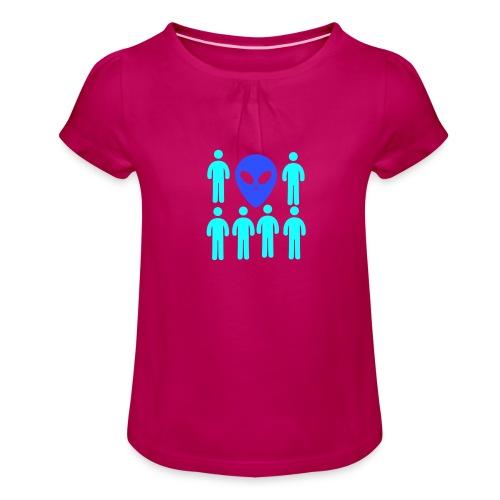 Extraterestre y Humano - Camiseta para niña con drapeado