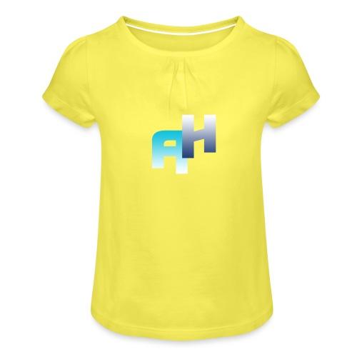 Logo-1 - Maglietta da ragazza con arricciatura