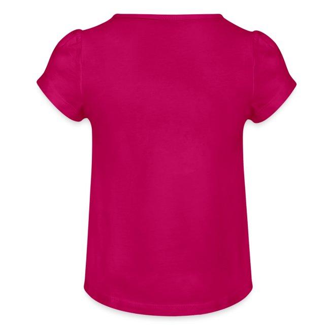 Vorschau: I bin daun moi weg - Mädchen-T-Shirt mit Raffungen