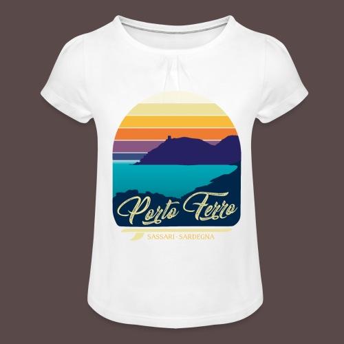 Porto Ferro - Vintage travel sunset - Maglietta da ragazza con arricciatura