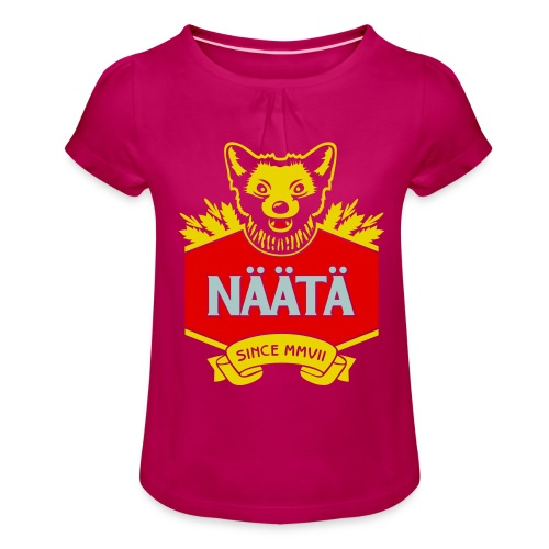 Näätä - Tyttöjen t-paita, jossa rypytyksiä