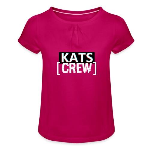 KATS CREW Logo - Koszulka dziewczęca z marszczeniami