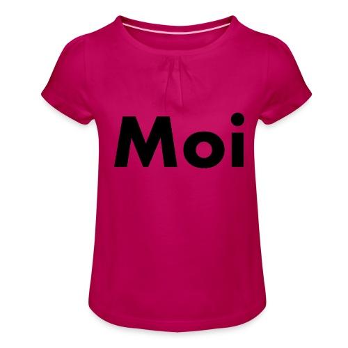Moi - Tyttöjen t-paita, jossa rypytyksiä