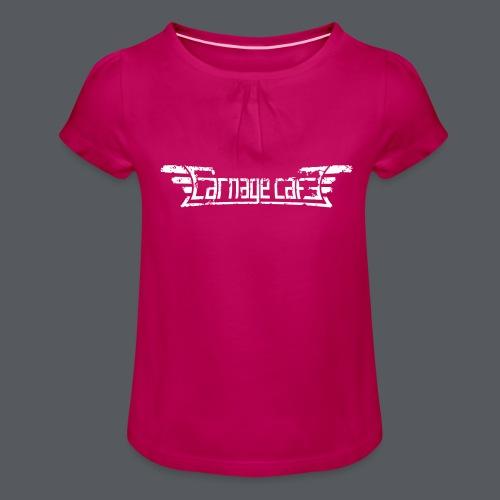 Carnage Cafe logo - T-shirt med rynkning flicka