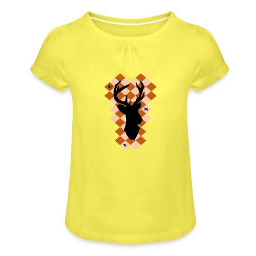 DeerSquare - Tyttöjen t-paita, jossa rypytyksiä